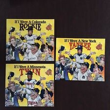 Lot of 3 If I Were a New York Yankee, Rockie & Twin Self Children's Photo Books
