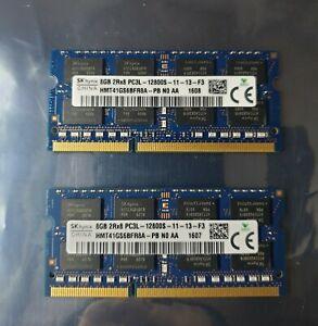 Sk Hynix 16GB 2X8GB DDR3 2RX8 1600MHz PC3L-12800S 204pin Laptop Memory RAM 1607