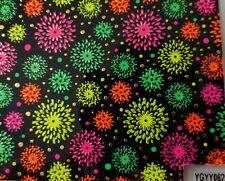 Nailart stickers ongles autocollants: cercles étoiles multicolores fond noir