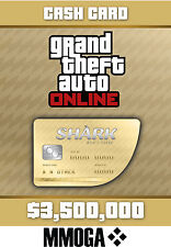 Grand theft auto Cashcard walhai 3500k $dollars whale shark pc ONLINE code GTA 5