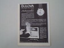 advertising Pubblicità 1965 OROLOGIO BULOVA AMBASSADOR