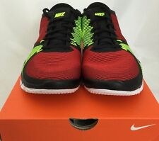 Nike Men's Sz 9.5 FREE TRAINER 3.0 V4 Running Shoes Sneakers Black/Red/Green NIB