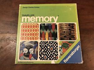 Vintage Traveller Memory Game Charles Eames Ravensburger 1974 Rare