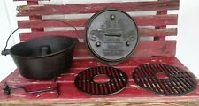 """Camp Chef Lewis & Clark ULTIMATE 12"""" Cast Iron Dutch OVEN w/ Carry Bag & Tool"""