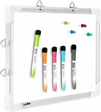 Small Dry Erase White Board, Magnetic Hanging Whiteboard, 5 Markers Double Sided