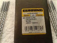 0.1860 INCH FIVE GUHRING HSCO//M42 DRILL BITS DIAM