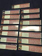 Lot Of 15 VTG Transformers G1 Tech Specs Bio File Cards Decoder Strength Skill