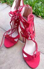 Sexy Tanzschuh Comer Pumps Sandalen aus USA rot mit strass Gr 37