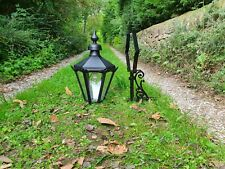 Large brass Victorian style wall lamp/light/lantern house outside garden barn
