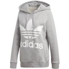 Adidas Trefoil hoodie Felpa Donna Mgreyh 48 (g8a)
