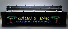 BLACK -REMOTE COLOR LED 18 BEER TAP HANDLE HOLDER Personalized palm trees