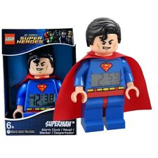 Lego Superman Electronic Alarm Clock DC Comics Super Heroes Action Figures Toy