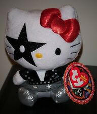 Ty Beanie Baby ~ HELLO KITTY STARCHILD (Paul Stanley) from Rock Band KISS NEW
