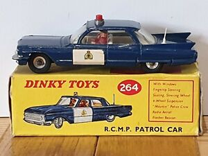 DINKY 264 CADILLAC RCMP PATROL CAR;  BOXED;  ORIGINAL 1962 - 68;  EXC/VGC.
