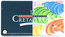 Cretacolor Fine Art Pastel Artist's Pencils Set 12 Brilliant Colors Cedar Casing