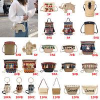 Ladies Beach Straw Woven Bags Rattan Shoulder Bag Women Summer Handbag Tote