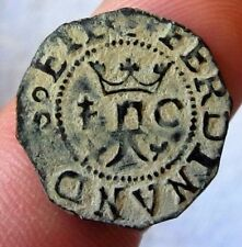 1492 PIRATE COBS FERDINAND & ISABELLA SPANISH BLANCA Colonial Coin COLUMBUS ERA*