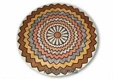 24 Inches Marble Center Table Inlay with Multi Gemstones Work Coffee Table Top