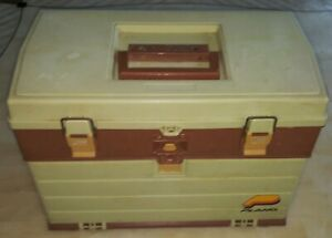 Plano 757 Series Fishing Tackle Box Vintage Circa Early 90's Near Excellent