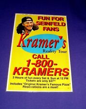 Authentic, Rare Kenny Kramer's Reality Tour Poster (1990s, Seinfeld) 13in x 19in