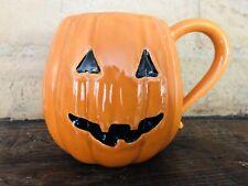 Pottery Barn Halloween Jack-O-Lantern Mug Coffee Cup Stoneware Pumpkin New