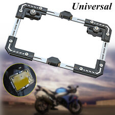 1* Motorcycle Adjustable Telescopic License Plate Frame Holder Tail Bracket Part