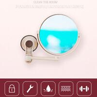 Anti-Fog Fog Free Shower Mirror Fogless Shaving Shave Mirror Bathroom 177cm