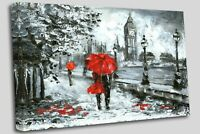 London Lovers Canvas Wall Art Picture Print