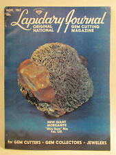 Lapidary Journal Magazine 1967 November New Giant Morganite Crystal