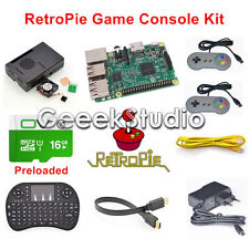 16GB Retropie Retrogame Console Kit with Raspberry Pi 3 Model B SNES Controllers