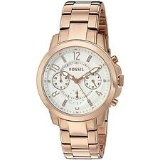 Fossil Women's Chronograph Gwynn Rose Gold-Tone Stainless Watch 38mm ES4035