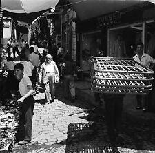 TURQUIE c. 1960 - Marchands Rue Commerces Istanbul - Négatif 6 x 6 - Tur 49