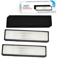 HQRP 2-Pack HEPA Filters C & 4x Carbon Filters for GermGuardian Series Purifiers
