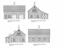 Barn Plan 34'X36' Gable Barn Print Blueprint Plan #17-3436Gblshed-1