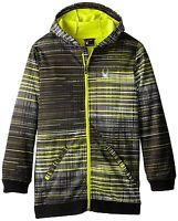 Spyder Boys Invert Softshell Jacket Acid Thatched Print Size Large L Green Black