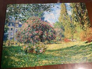 """LIBERTY WOODEN JIGSAW PUZZLE   Landscape  Claude Monet. 12.75"""" X 17.5""""."""