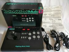 Hori Arcade Fighting Stick Multi for SNES,PC Engine,Megadrive Boxed/tested-c0219