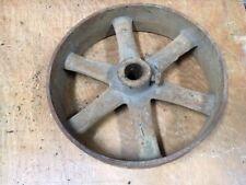 antique Cast Iron Flat Belt Pulley 2.5x10.5 gas steam engine sawmill steampunk