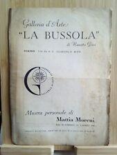 Catalogo della mostra di Mattia Moreni presentato da Carlo Mollino 1946