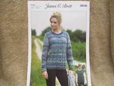 James C Brett - Ladies Chunky Sweater and Slipover Knitting Pattern - JB338