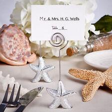 Marque-place étoile de mer Argent thème mer Bonbonnière Mariage