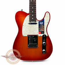 Fender American Elite Telecaster with Rosewood Fretboard Aged Cherry Burst Demo