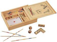 Giochi del Domino Shangai, dadi da Poker e carte da gioco 4 in 1 scatola legno