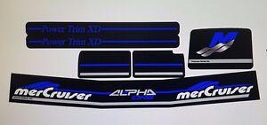 MERCRUISER THE NEW MOST COMPLETE BLUE ALPHA ONE GEN 2 W/BLUE RAMS STICKER SET