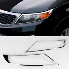 Exterior Chrome Head Lamp Light Cover Molding K-956 for Kia Sorento R 2010-2014