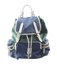 Burberry Medium Rucksack Blue & Green Nylon Backpack