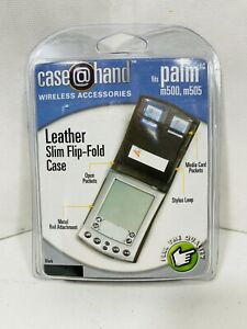 Palm M500 M505 Leather Slim Flip Fold Case m26