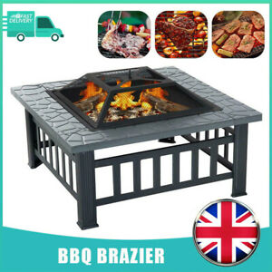 Fire Pit BBQ Firepit Brazier Garden Table Stove Patio Heater Grill Free Shipping