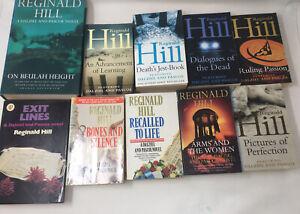 10 x Dalziel & Pascoe Crime Fiction by Reginald Hill Job Lot