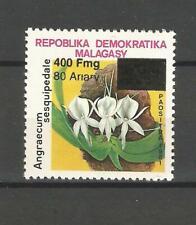 MADAGASCAR  MADAGASKAR MALAGASY  surcharge overprint ORCHID ORCHIDEE